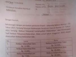 Tarif Retribusi Kebersihan Pasar Inpres Kalianda Naik 150 Persen