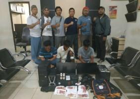 Tekab 308 Polres Tulangbawang Lumpuhkan Pencuri di SMPN 2 Banjaragung
