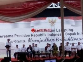 Temu Petani Lampung Bersama Jokowi Paparkan Petingnya Waduk