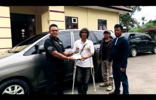 Temukan Mobil yang Hilang, Polres Lambar Kembalikan ke Pemiliknya