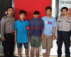 Tiga Terduga Pencuri Handphone di Toko, Satu Diantaranya Anak di Bbawah Umur