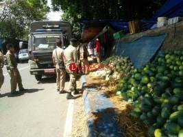 Tim Gabungan Tertibkan Pedagang di Jalan Protokol Bandar Lampung
