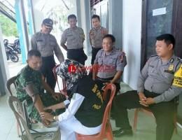 Tim Kesehatan Polres Way Kanan Cek Kesehatan Personel Pengamanan Pemilu