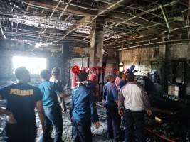 Tim Labfor Selidiki Penyebab Kebakaran Ruang Kerja Wabup Pringsewu