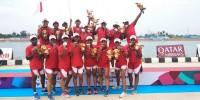 Tim Perahu Naga Indonesia Sumbang Medali Perak