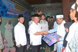 Tim Safari Ramadan Pemprov Lampung Kunjungi Lampura