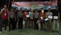 Tim Sumbersari Juarai Lomba Volly Kapolres Cup