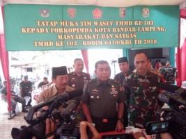 Tim Wasev TNI-AD Tinjau Pelaksanaan TMMD di Bandar Lampung