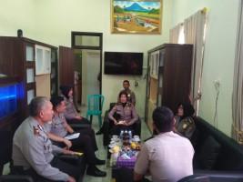 Tim Wasrik SDM Polda Lampung Kunjungi Polres Pesawaran