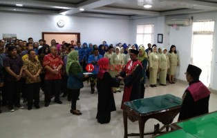 Timur Pradoko Resmi Jabat Ketua Pengadilan Negeri Tanjungkarang