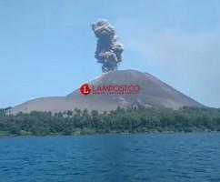 Tinggi Gunung Anak Krakatau Bertambah 33 Meter dan Membesar