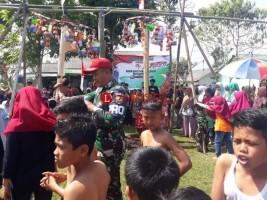 TNI-Warga LambarMeriahkan HUT RI Gerlar Aneka Lomba