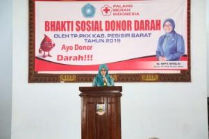 TP PKK Pesisir Barat Gelar Donor Darah