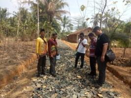 TP4D Kejari Kotabumi Monitoring Pengerjaan Fisik di Enam Desa