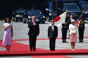 Trump Jadi Pemimpin Dunia Pertama yang Bertemu Kaisar Baru Jepang