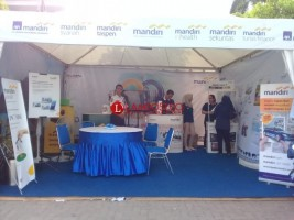 Tukar 200 Poin Mandiri Fiesta di Lampung Fair dengan Paket Sembako