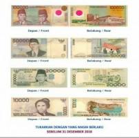 Tukarkan Uang Emisi Tahun 1999 dan 1998 Ke Bank Indonesia