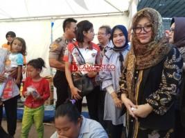Tutut Apresiasi Penanganan Pengungsi Oleh Pemkab Lamsel