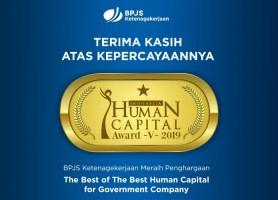 Unggul Dalam Pengelolaan SDM, BPJSTK Raih Penghargaan Indonesia Human Capital Award