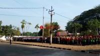 Unila Bersama TNI-Polri dan Pemkot Gelar Apel Peduli Kampus