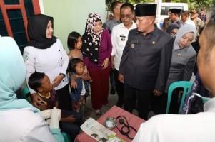 Usai Lantik Pjs Kades, Nanang Tinjau Pelayanan Kesehatan di Kunjir