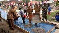 Uspika Palas Monitoring Pembangunan Infrastruktur dari Dana Desa