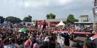 Via Valen dan Hijau Daun Semarakan Deklarasi Pujo di Sidomulyo