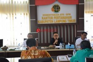 Wabup Lamtim Gelar Rakor Pembentukan Surat Rekomendasi Kegiatan Redistribusi Tanah