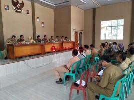 Wabup Sapli Pimpin Rapat Evaluasi Lomba Desa Mesuji