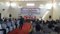 Waka Polda Lampung Beri Arahan di Mapolres Lampura