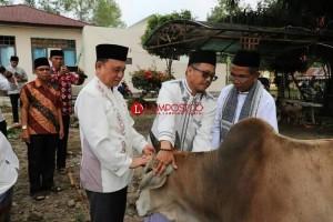 Wakil Bupati Lambar Salat Iduladha di Masjid Kompleks Pemkab Lambar