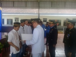 Wakil Bupati Lamtim Serahkan SK Remisi Kepada 140 Warga Binaan Rutan Kelas II B Sukadana