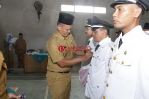 Wakil Bupati Pringsewu Dilantik 4 Penjabat Kepala Pekon