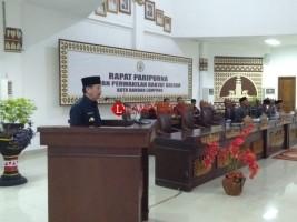 Wali Kota Bandar Lampung Sampaikan KUA PPAS Perubahan APBD 2018