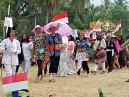Warga dan Pelajar Meriahkan Karnaval HUT RI di Pematangpasir