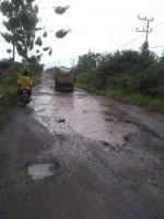 Warga Kelurahan Rejosari, Kotabumi, Keluhkan Jalan Rusak Berlubang