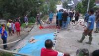 Warga Pagarbaru Keluhkan Hasil Pembangunan Jalan Rabat Beton