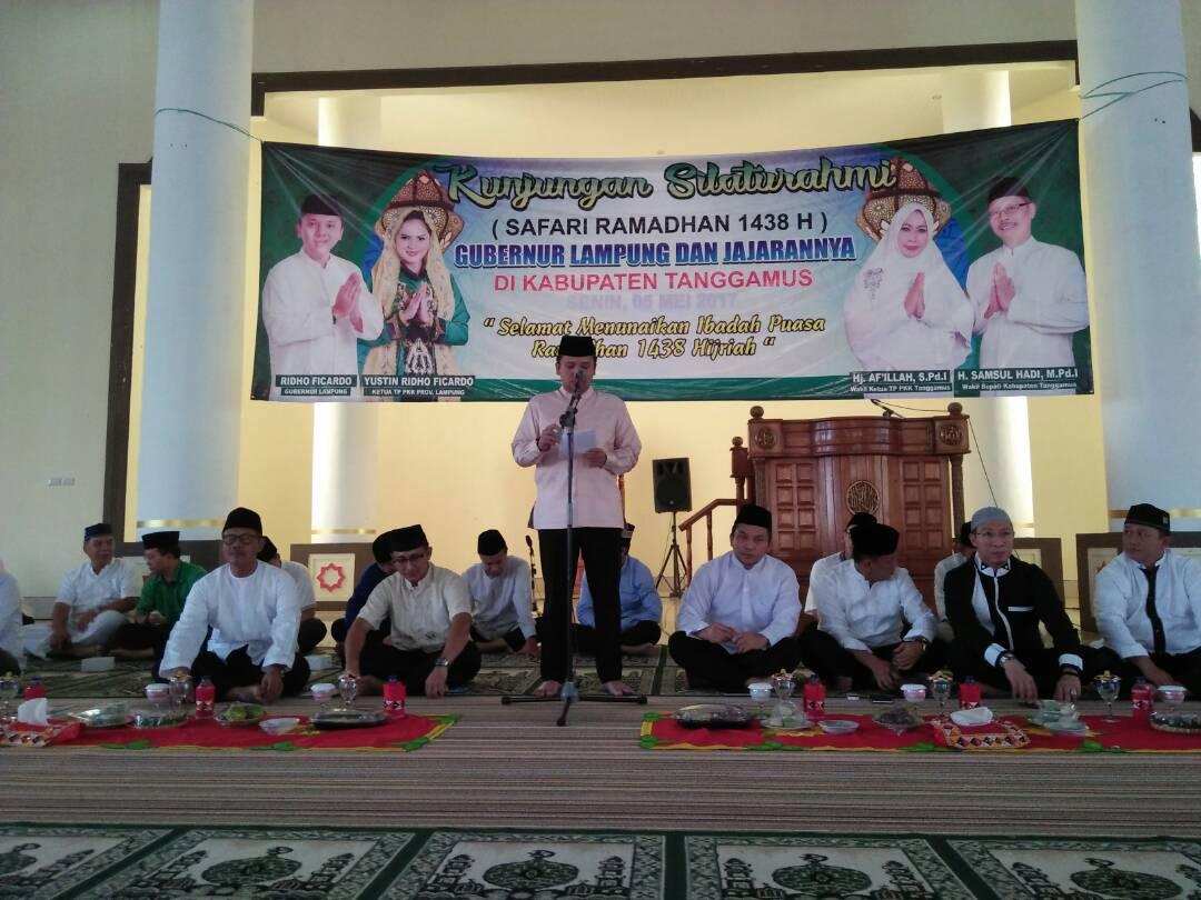 LAMPUNG POST | Safari Ramadan ke Tanggamus, Gubernur Apresiasi Kondusivitas