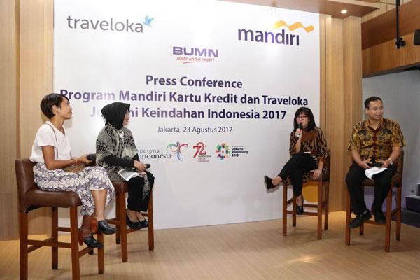LAMPUNG POST | Bank Mandiri-Traveloka Kerja Sama Dukung Pariwisata Indonesia