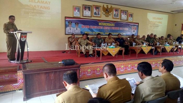 LAMPUNG POST | Khamami Buka Musrenbang RPJMD Mesuji 2017