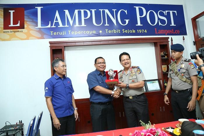 LAMPUNG POST | Ini Kata Kapolda di Lampung Post: Media sebagai Mitra Bersama Jaga Kamtibmas