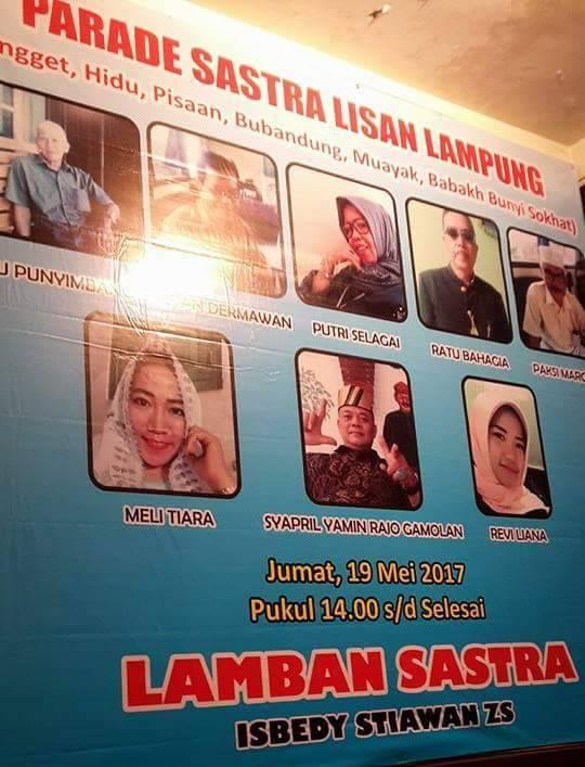 LAMPUNG POST | Lamban Sastra Helat Parade Sastra Lisan Lampung