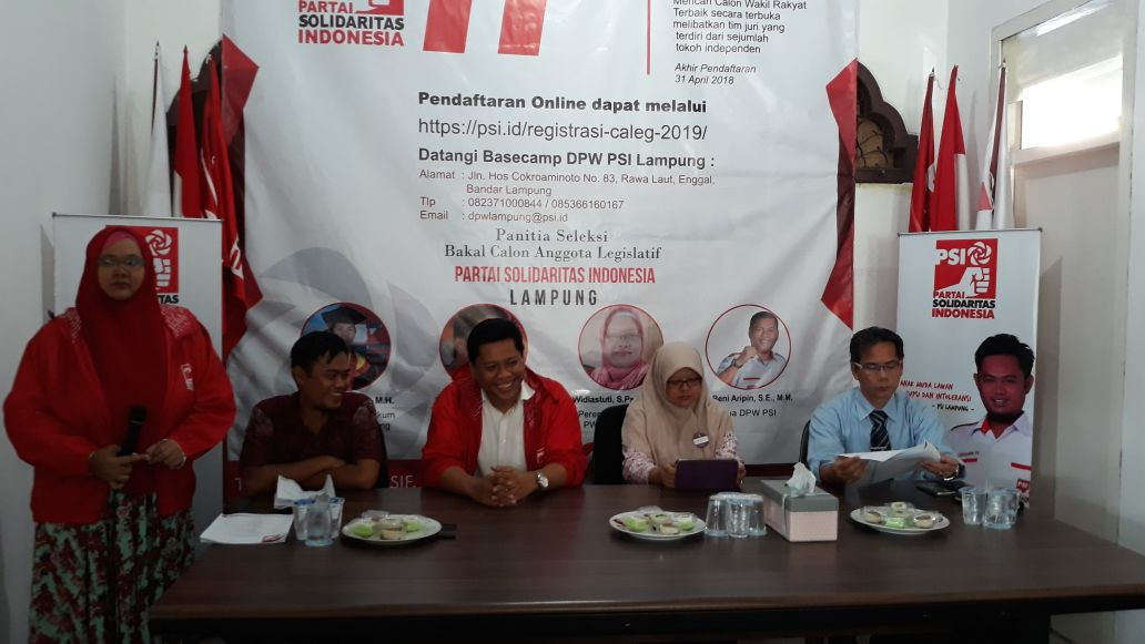 LAMPUNG POST | Rekrutmen Bacaleg PSI Tanpa Mahar Politik