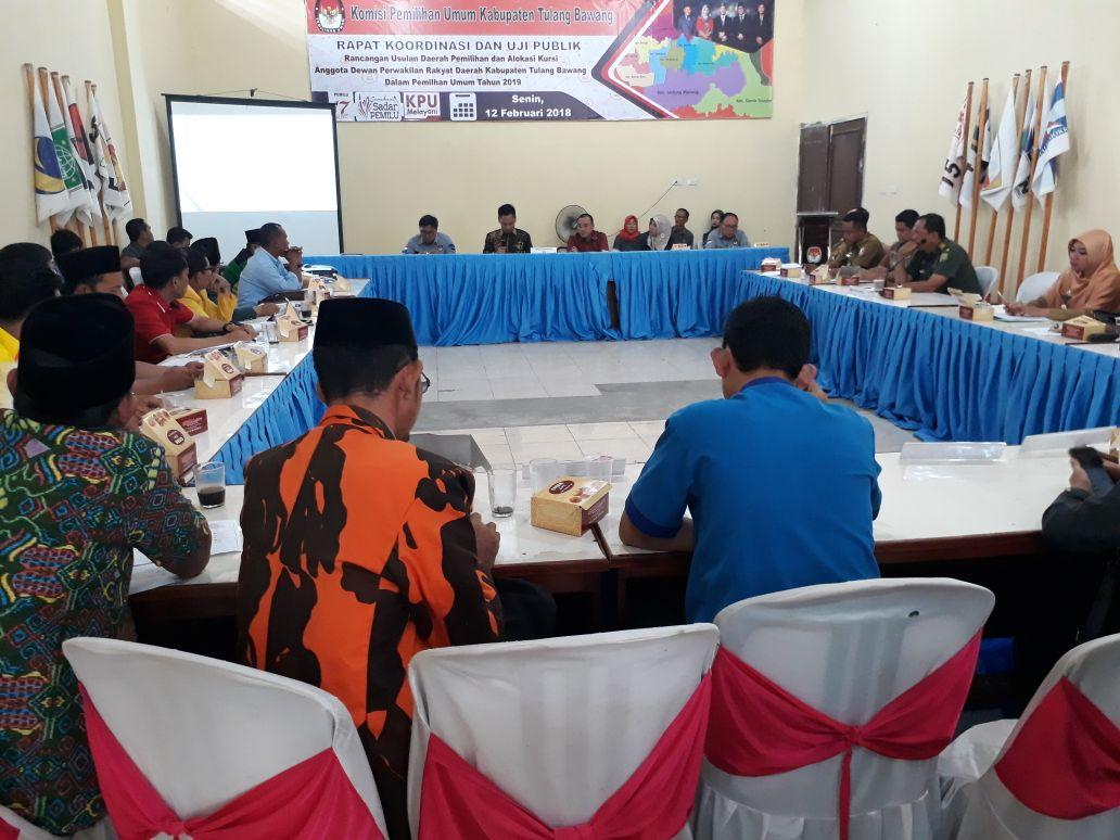 KPU Tulangbawang Gelar Rakor Penataan Dapil