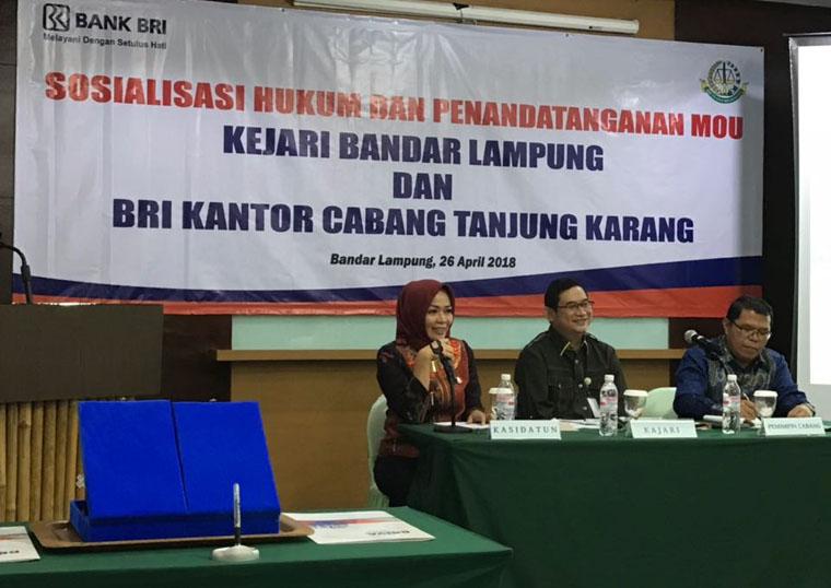 LAMPUNG POST | Kejari Bandar Lampung Bantu BRI Tagih Nasabah Bandel