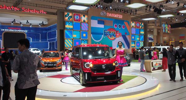 LAMPUNG POST | Pengunjung GIIAS 2017 Respons Positif Booth Daihatsu