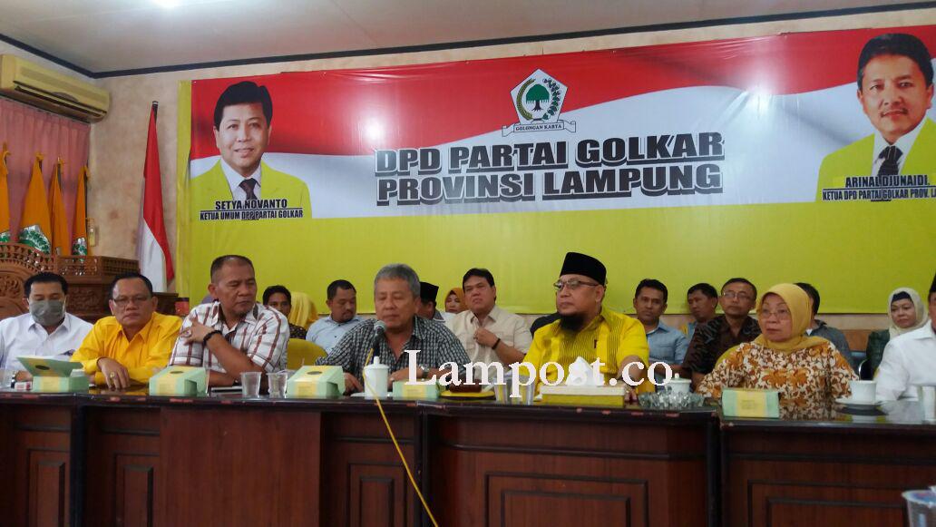 LAMPUNG POST | DPP Golkar Tetapkan Arinal Djunaidi Sebagai Calon Guburnur Lampung