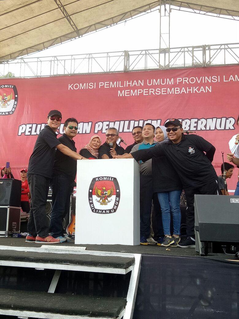 LAMPUNG POST | Ketua KPU RI Buka Gelaran Pemlihan Gubernur dan Wakkil Gubernur Lampung