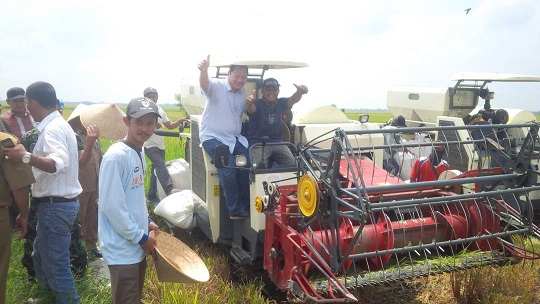 LAMPUNG POST | Panen Raya di Desa Sukapura Hasilkan 8 Ton Per Hektare