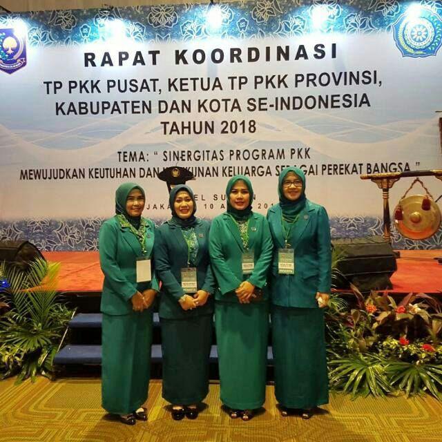 PKK Lamsel Ikut Rakor TP PKK se-Indonesia di Jakarta